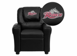 Rider University Broncos Embroidered Black Vinyl Kids Recliner - DG-ULT-KID-BK-41065-EMB-GG