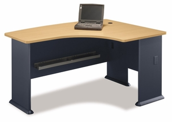 Right L-Bow Desk - Series A Beech Collection - Bush Office Furniture - WC14322