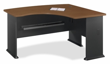 Right L-Bow Desk - Series A Hansen Cherry Collection - Bush Office Furniture - WC94422