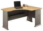 Right L-Bow Desk - Series A Light Oak Collection - Bush Office Furniture - WC64322