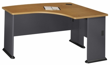 Right L-Bow Desk - Series A Natural Cherry Collection - Bush Office Furniture - WC57422