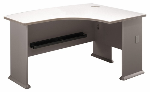Right L-Bow Desk - Series A Pewter Collection - Bush Office Furniture - WC14522