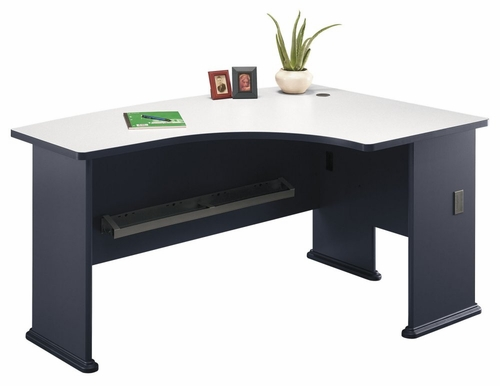 Right L-Bow Desk - Series A Slate Collection - Bush Office Furniture - WC84822