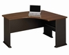 Right L-Bow Desk - Series A Walnut Collection - Bush Office Furniture - WC25522
