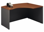 Right L-Bow Desk - Series C Auburn Maple Collection - Bush Office Furniture - WC48522