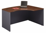Right L-Bow Desk - Series C Hansen Cherry Collection - Bush Office Furniture - WC24422