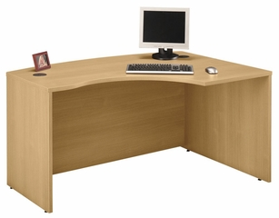 Right L-Bow Desk - Series C Light Oak Collection - Bush Office Furniture - WC60322