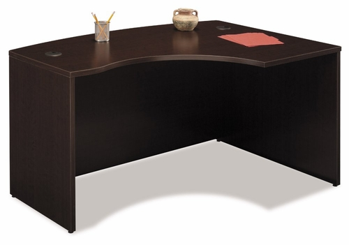 Right L-Bow Desk - Series C Mocha Cherry Collection - Bush Office Furniture - WC12922