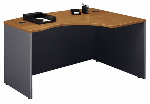 Right L-Bow Desk - Series C Natural Cherry Collection - Bush Office Furniture - WC72422