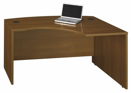 Right L-Bow Desk - Series C Warm Oak Collection - Bush Office Furniture - WC67522