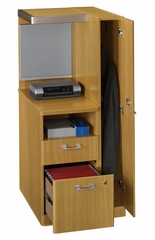 Right Storage Tower - Quantum Modern Cherry Collection - Bush Office Furniture - QT2826MCK