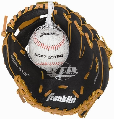 Righty Teeball Glove and Ball Tan / Black - Franklin Sports