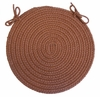 "Rio Almond 15"" Braided Chair Pad - Rhody Rug - RI-8715CPAL"