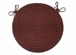 "Rio Burgundy 15"" Braided Chair Pad - Rhody Rug - RI-4715CPBU"