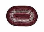 Rio Burgundy Braided Rugs - Rhody Rug