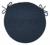 "Rio Navy 15"" Braided Chair Pad - Rhody Rug - RI-1715CPNV"