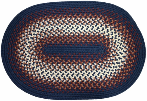 Rio Navy 2'x3' Braided Rug - Rhody Rug - RI-1723NV