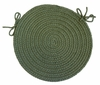 "Rio Olive 15"" Braided Chair Pad - Rhody Rug - RI-6715CPOL"