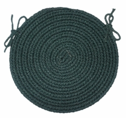 "Rio Spruce Green 15"" Braided Chair Pad - Rhody Rug - RI-2715CPSP"