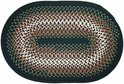 Rio Spruce Green 2'x4' Braided Rug - Rhody Rug - RI-2724SP