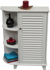 RiverRidge Home White Ellsworth Cabinet with Side Shelves