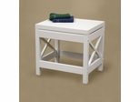 RiverRidge Home White X-Frame Bathroom Stool