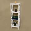 RiverRidge Home White X-Frame Bathroom Towel Tower