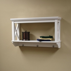 RiverRidge Home White X-Frame Bathroom Wall Shelf