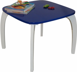RiverRidge Kids Dark Blue Bow Leg Table