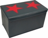 RiverRidge Kids Dark Blue / Red Large Storage Ottoman with Star Design