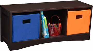 RiverRidge Kids Espresso Bench with 3 Cubby's