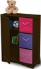 RiverRidge  Kids Espresso Storage Cabinet with Door & Shelf