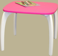 RiverRidge Kids Pink Bow Leg Table