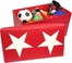 RiverRidge Kids Red / White Large Storage Ottoman with Star Design