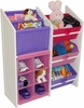 RiverRidge Kids Super Storage with 3 Pastel Bins, Book Holder & 6 Slot Cubby