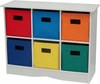 RiverRidge Kids White Cabinet with 6 Bright Bins