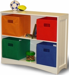 RiverRidge  Kids White Horizontal Bookcase