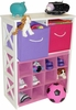 RiverRidge Kids X-Frame Storage with 2 Pastel Colored Bins & 12 Slot Cubby