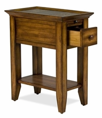 Riverside Andorra Burnished Oak Accent Table with Pullout Shelf - Riverside Furniture - 5312K