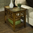 Riverside Andorra Side Table in Burnished Oak - Riverside Furniture - 5309K