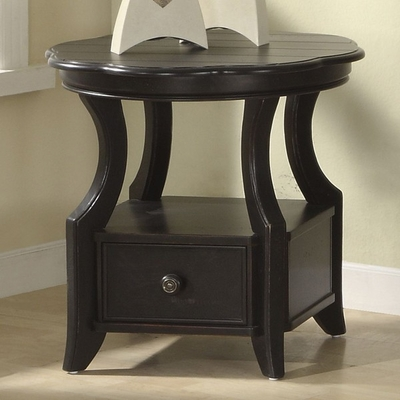 Riverside Cape May Black Round Side Table - Riverside Furniture - 44109