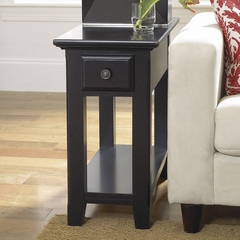 Riverside Cobble Hill Black Side Table - Riverside Furniture - 35012