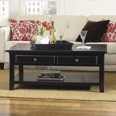 Riverside Cobble Hill Cocktail Table with 2 Drawers - Riverside Furniture - 35001