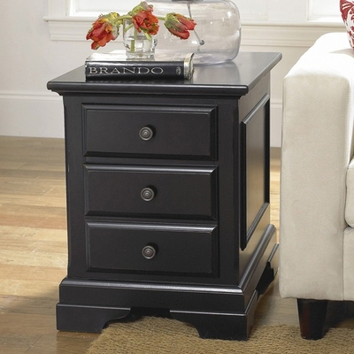 Riverside Cobble Hill Two Drawer Black End Table - Riverside Furniture - 35009