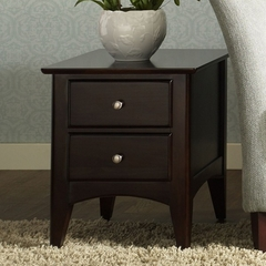 Riverside Cosmopolitan Two Drawer Espresso End Table - Riverside Furniture - 51106