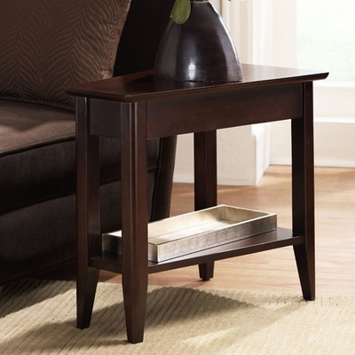 Riverside Cosmopolitan Wedge Espresso Side Table - Riverside Furniture - 51109