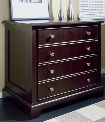 Riverside Crossings Espresso Lateral File Cabinet That Locks - Riverside Furniture - 69123