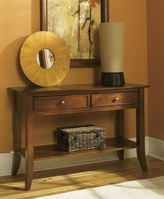Riverside Crossings Two Drawer Cherry Foyer Table - Riverside Furniture - 69015