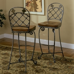 Riverside Harmony Bar Stool with Swivel Seat - Set of 2 - Riverside Furniture - 28057