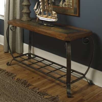 Riverside Harmony Oak Foyer Table - Riverside Furniture - 28015